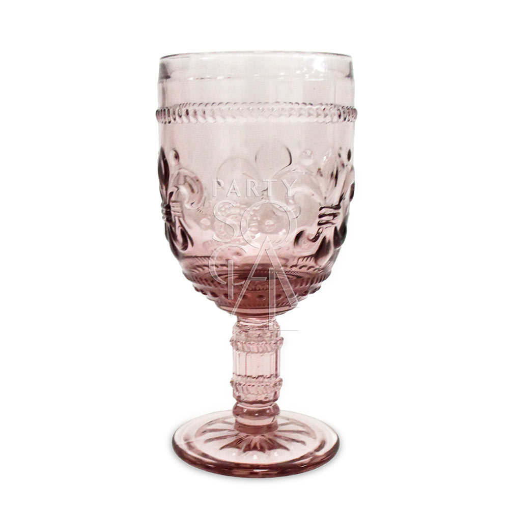 Vintage Blush Pink Wine/Water Glass