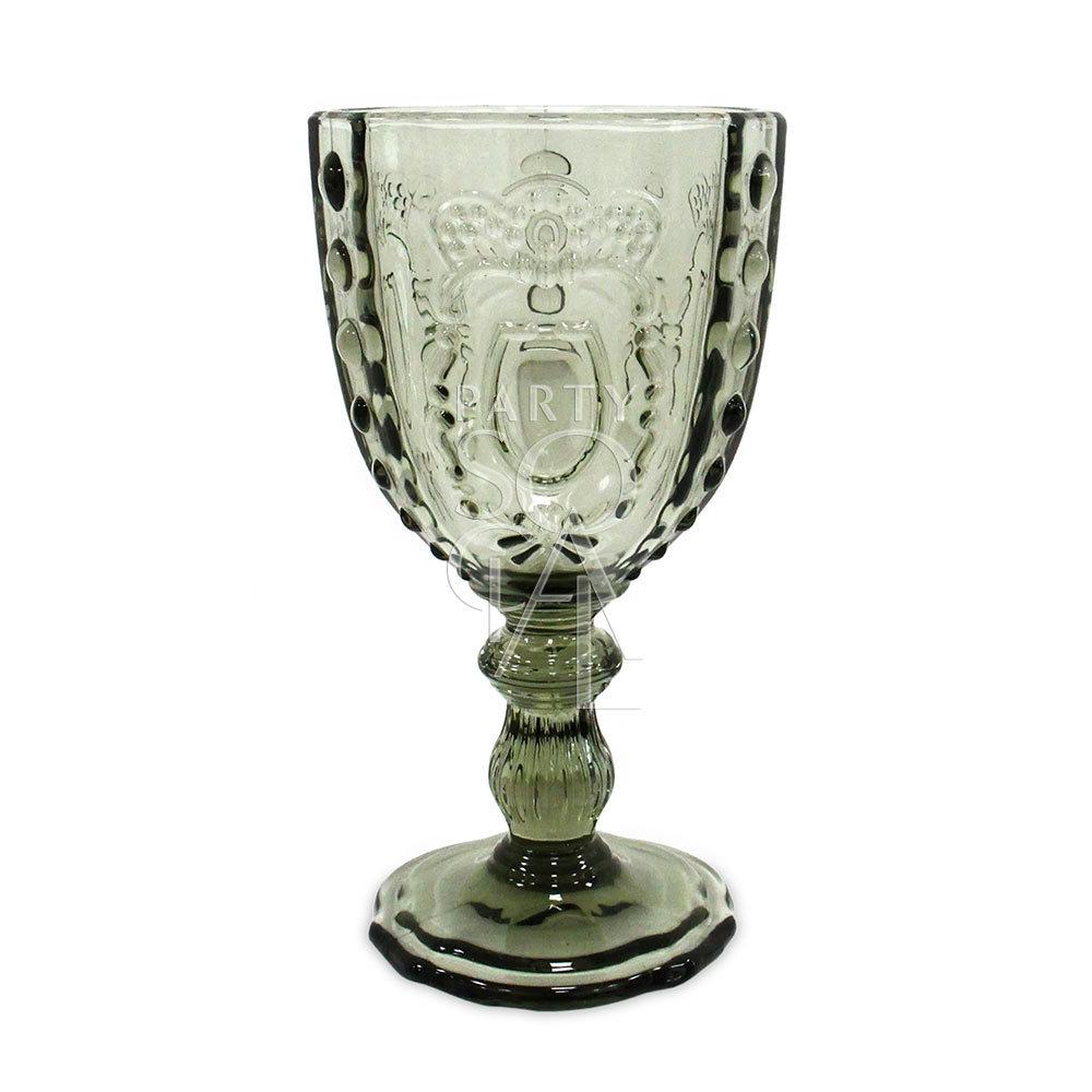 Vintage Grey Wine/Water Glass