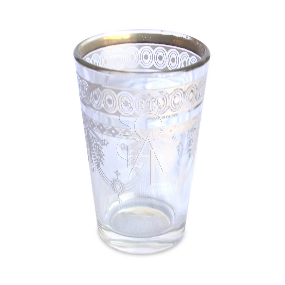 Glass Morrocan Tea - Platinum