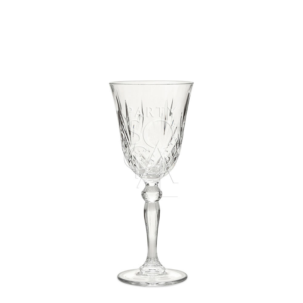 Crystal White Wine Glass Rome