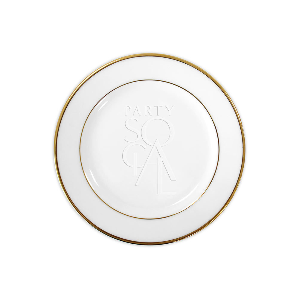 Modern China w/ Gold Rim Salad Plate 9