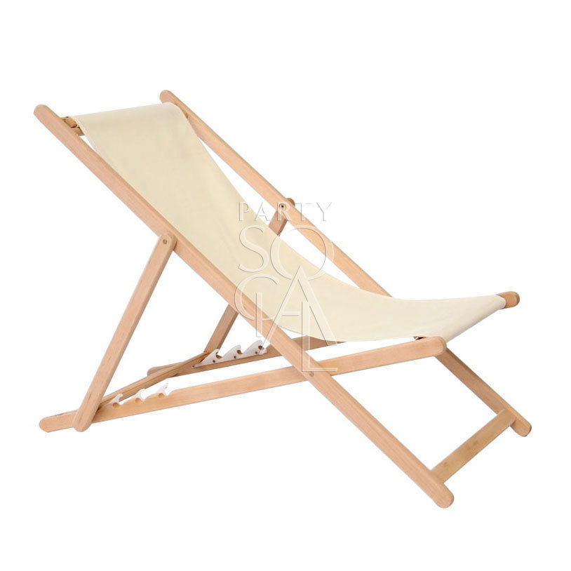 Wooden Deckchair Adult