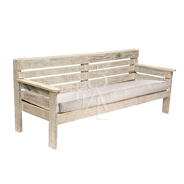 White Wood 4 Seater Lounge