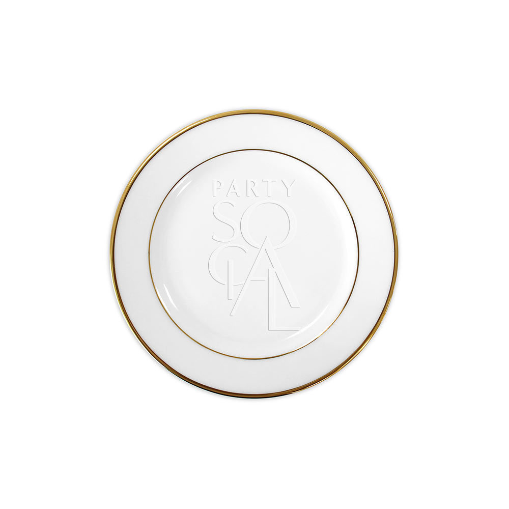 Modern China w/ Gold Rim Dessert Plate 18.5cm
