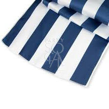Runner Navy Blue & White Striped 335x65cm