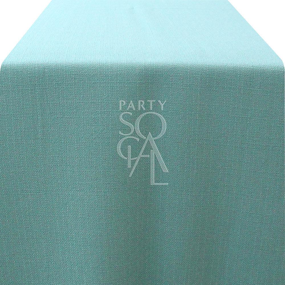 Runner Mint Green Linen Weave 335x65cm