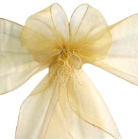 Chair Sash - Gold Organza