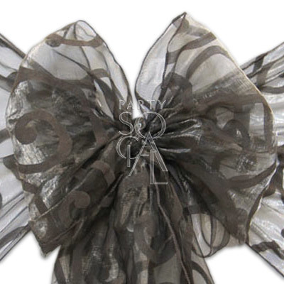 Chair Sash Grey on  Sheer Organza