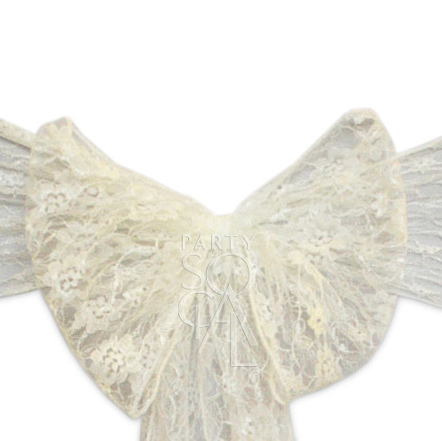 Chair Sash - Ivory Lace