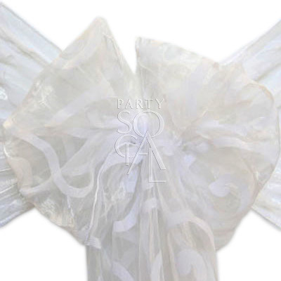 Chair Sash - Sheer Organza White