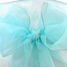 Chair Sash - Tiffany Blue Organza