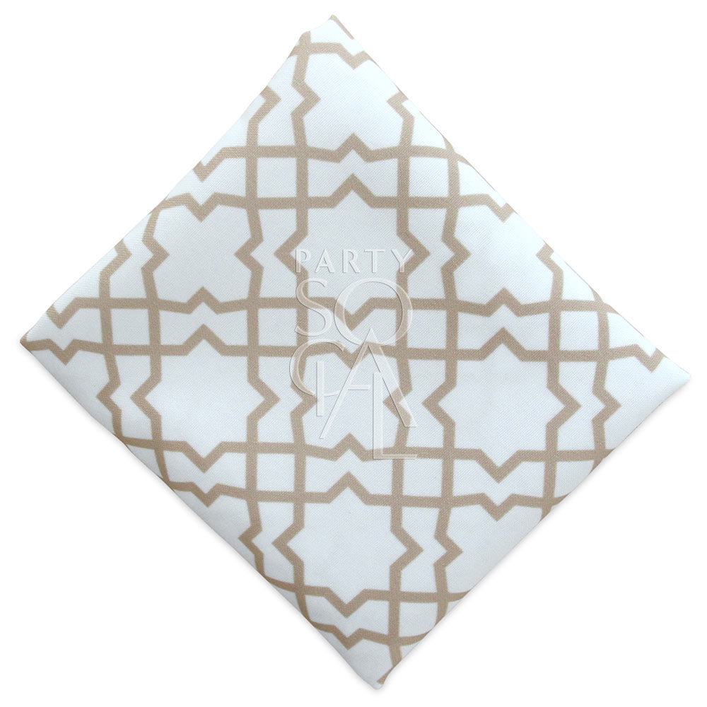 Napkin  - Gold Arabesque Polycotton