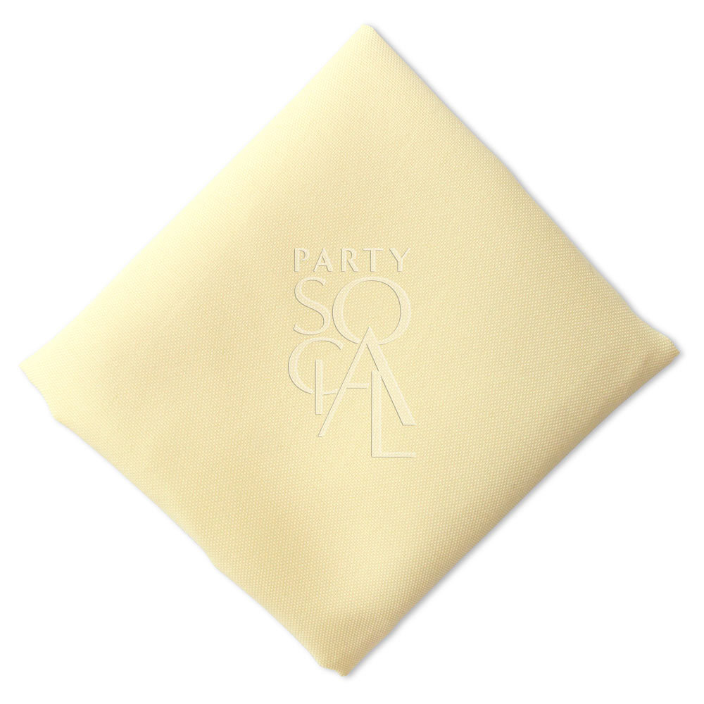 Napkin  Pale Yellow  Polycotton