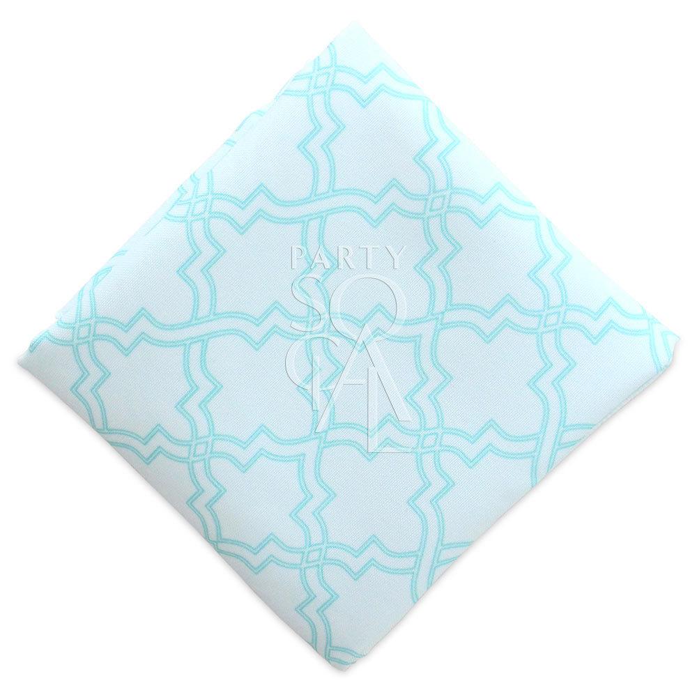 Napkin  - Turquoise Arabesque Polycotton
