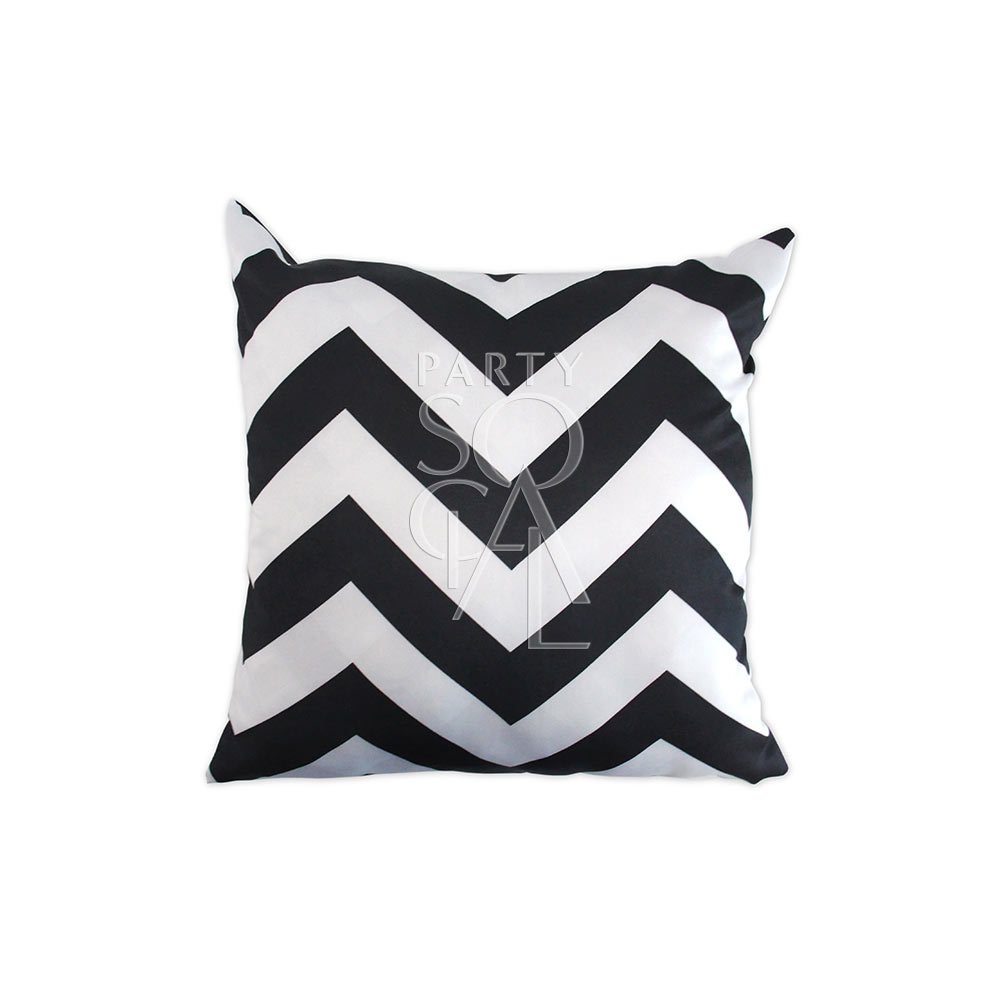 Cushion Black & White Chevron 40x40cm
