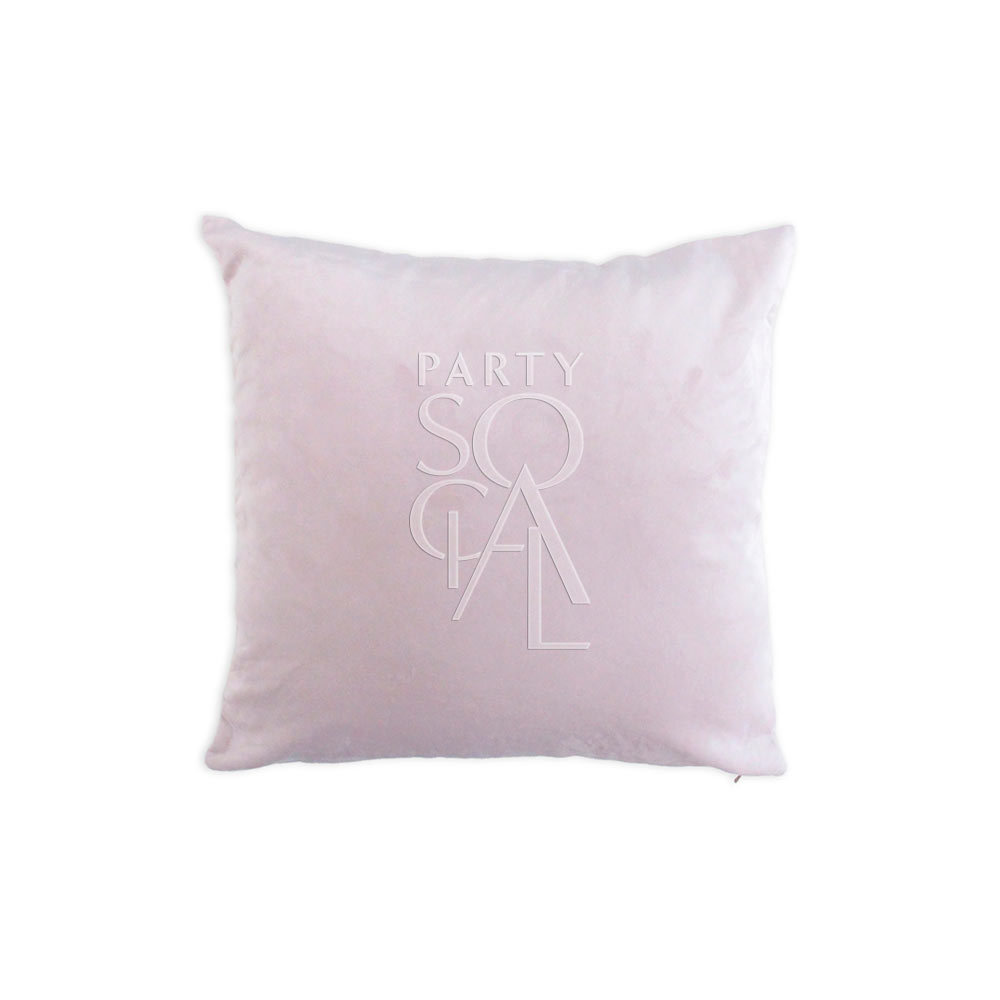 Cushion Blush Pink Velvet Medium 40x40