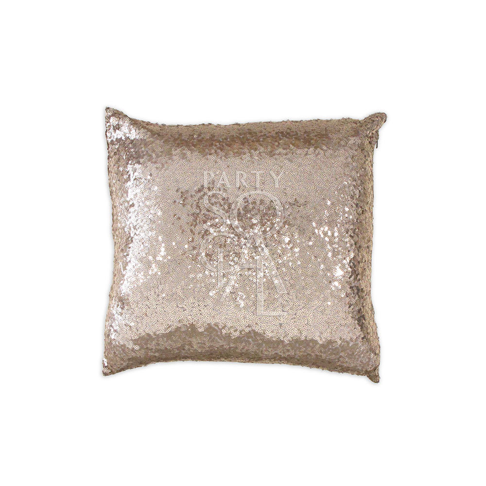 Cushion Dark Champagne Sequin 40x40cm