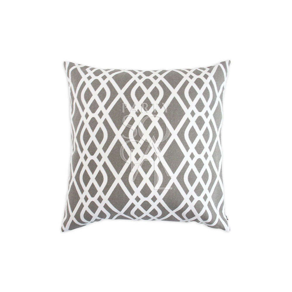 Cushion Grey Cursive Print 40x40cm