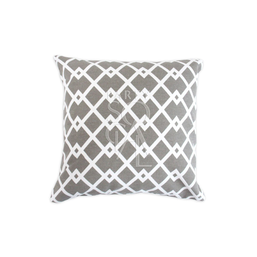 Cushion Grey Diamond Print 40x40cm