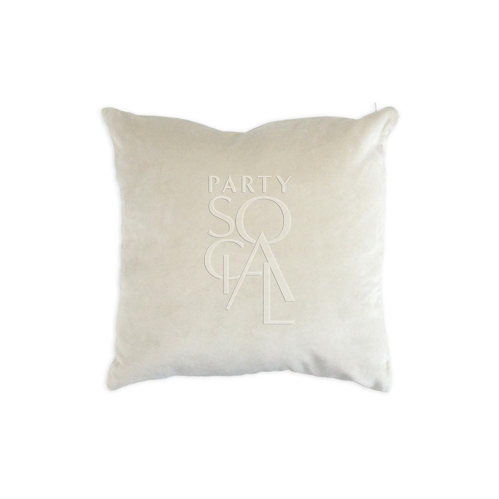 Cushion Ivory Velvet 40x40cm