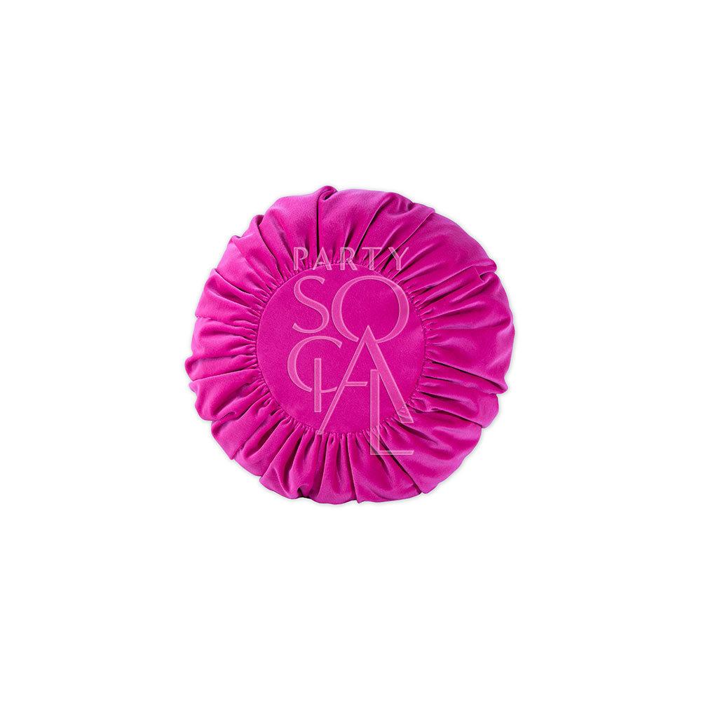 Cushion Pink Velvet 33cm Round