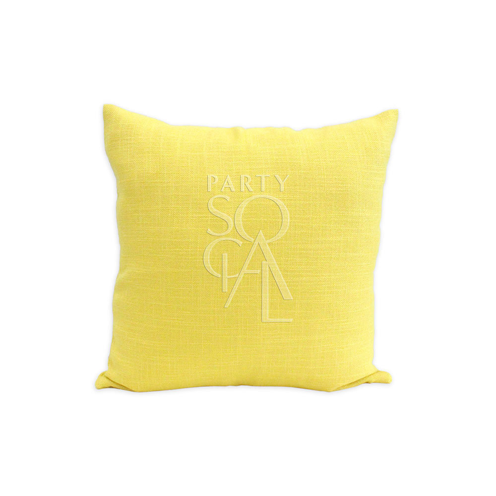 Cushion - Yellow Linen 40x40cm