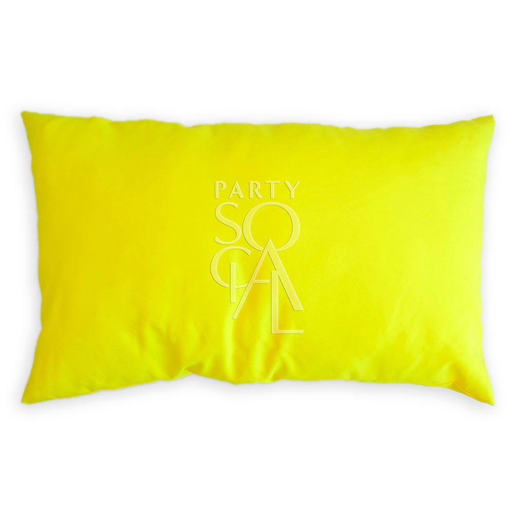 Cushion Yellow Linen Blend 65x40cm
