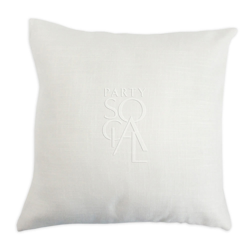 Floor Cushion Off White Linen 60x60cm