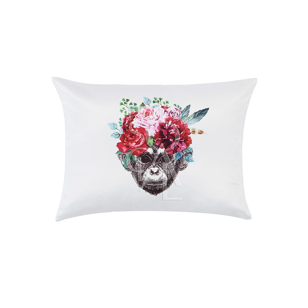 Cushion Off White w/ Monkey Face 40x30cm