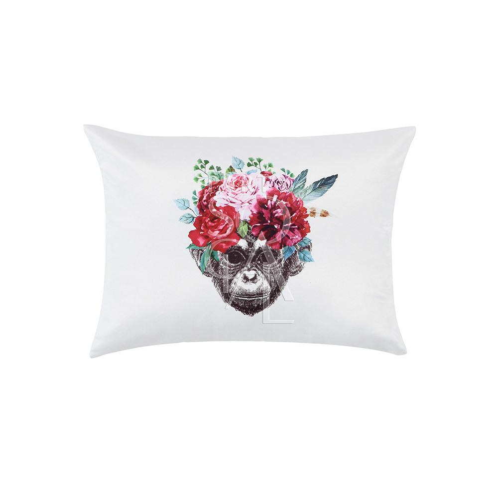 Cushion Off White w/ Monkey Face 40x30cm