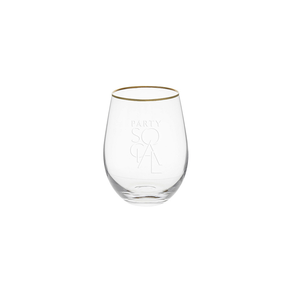 Gold Rimmed Low Tumbler Type 2