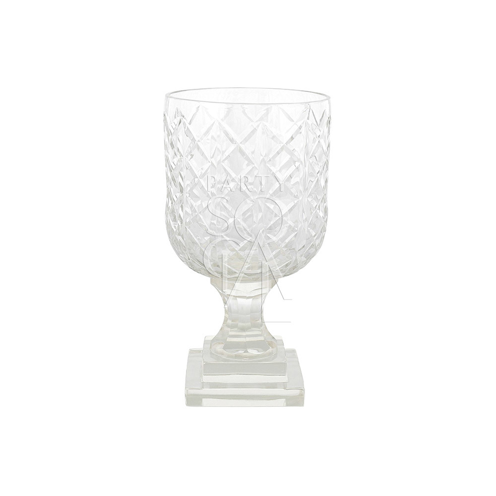 Crystal Glass Vase 18.5 H x 10 D cm