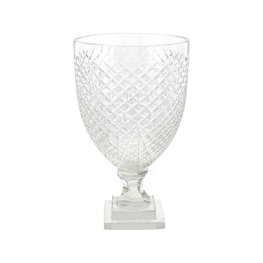Crystal Glass Vase 26.5 H x 15 D cm