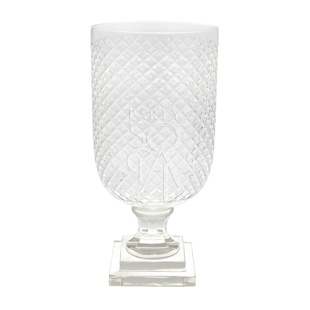 Crystal Glass Vase 32.5 H x 15 D cm