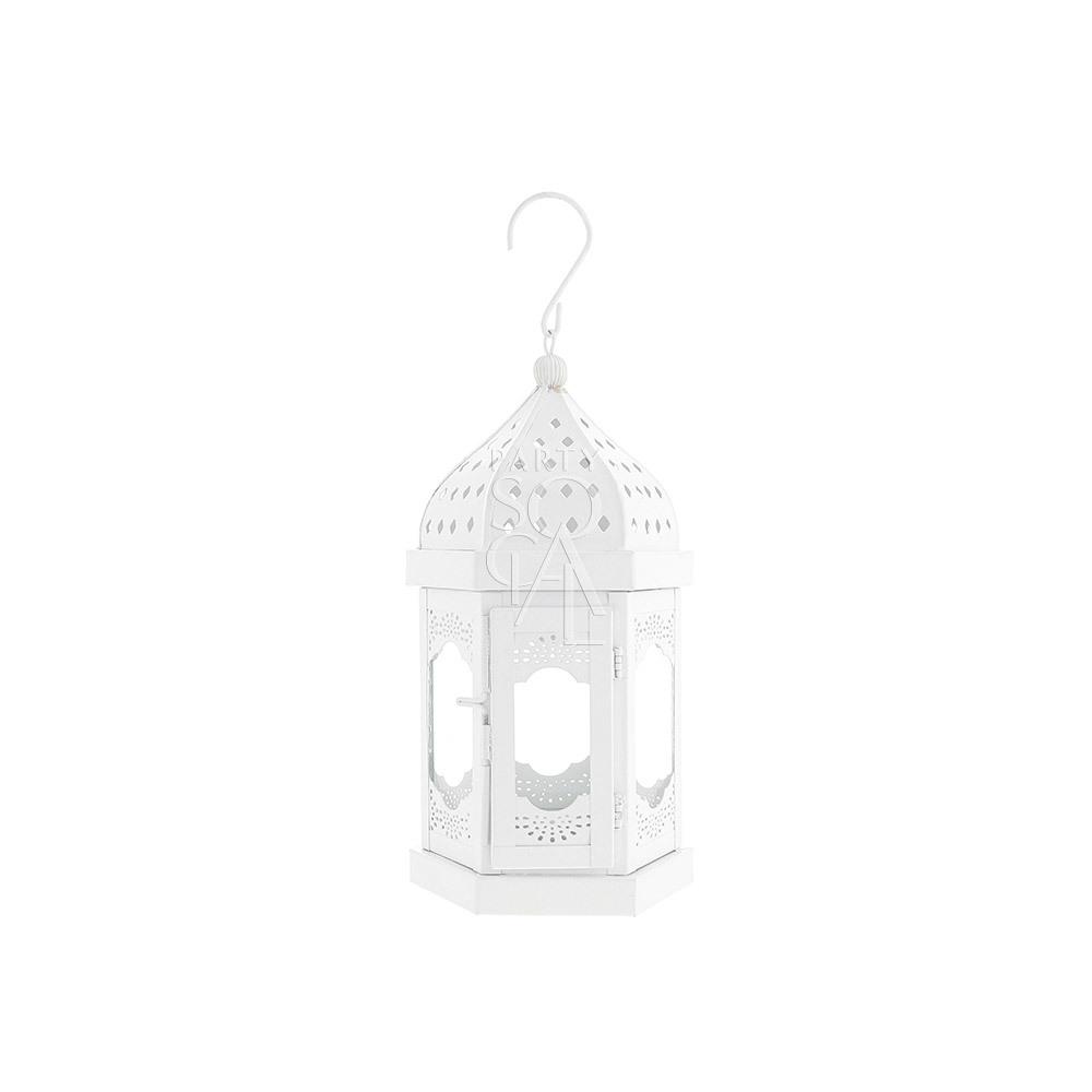 White Moroccan Lantern - XSmall