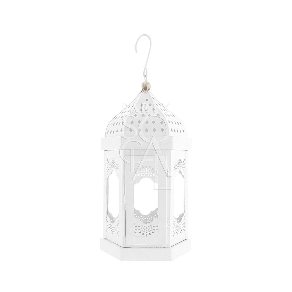 White Moroccan Lantern - Small