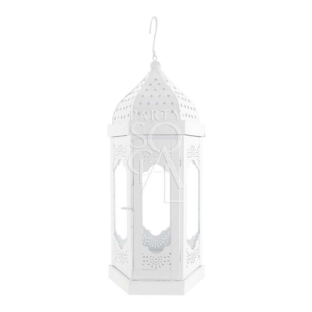 White Moroccan Lantern - Medium