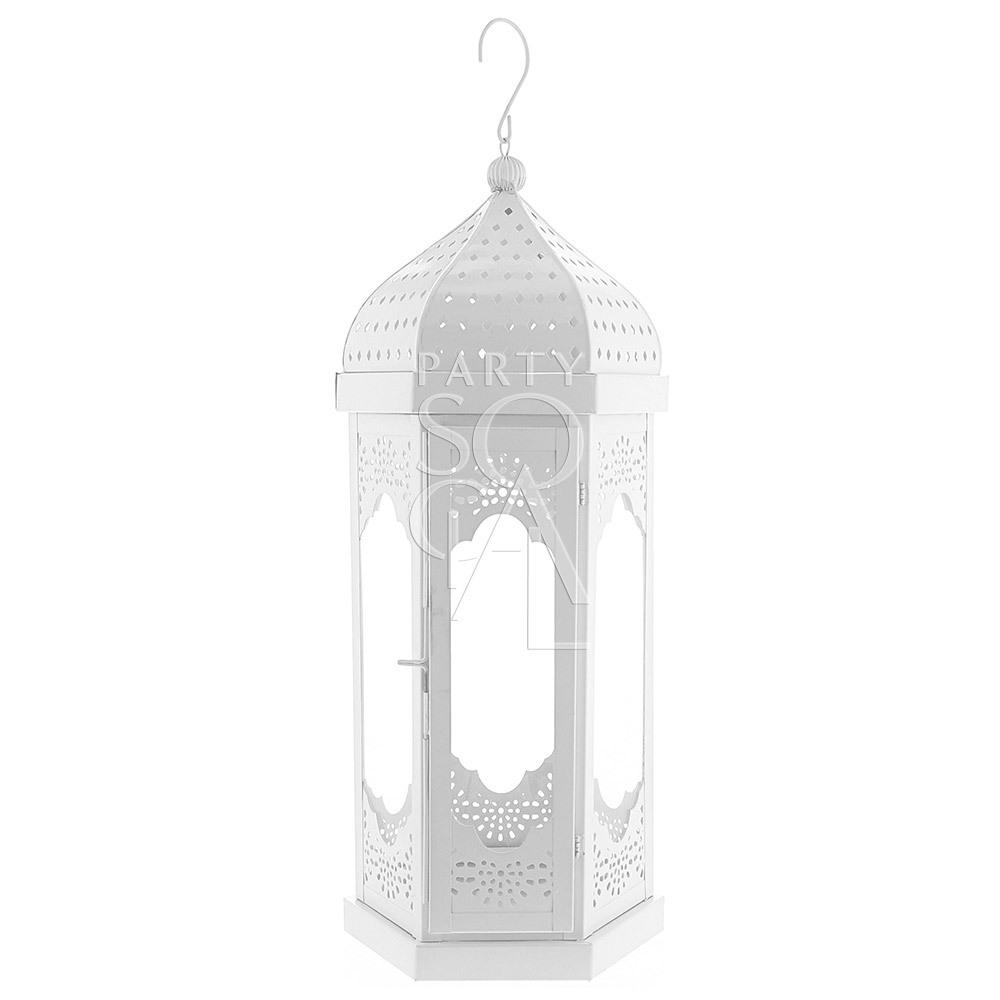 White Moroccan Lantern - Large