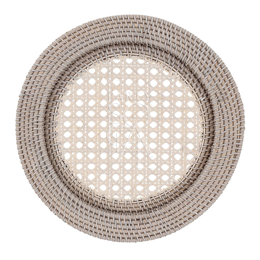 Charger Plate - White Wash Rattan 13