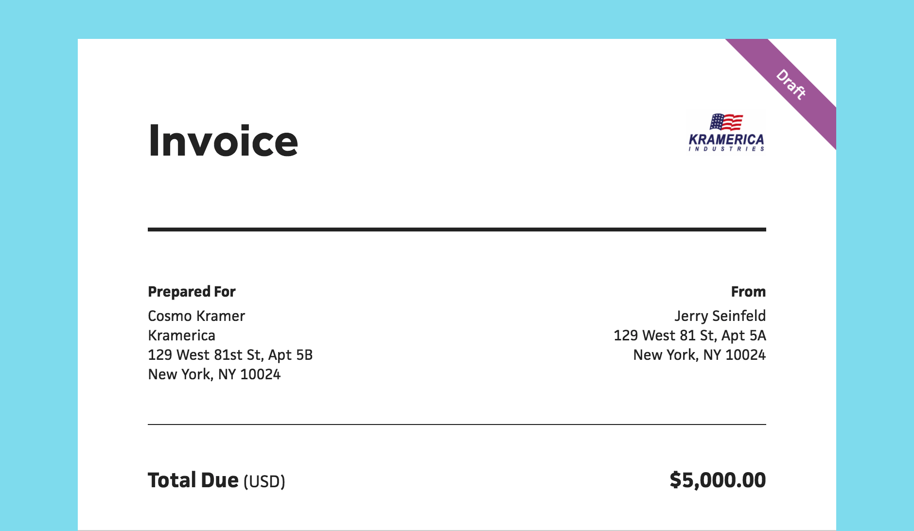 draft invoices