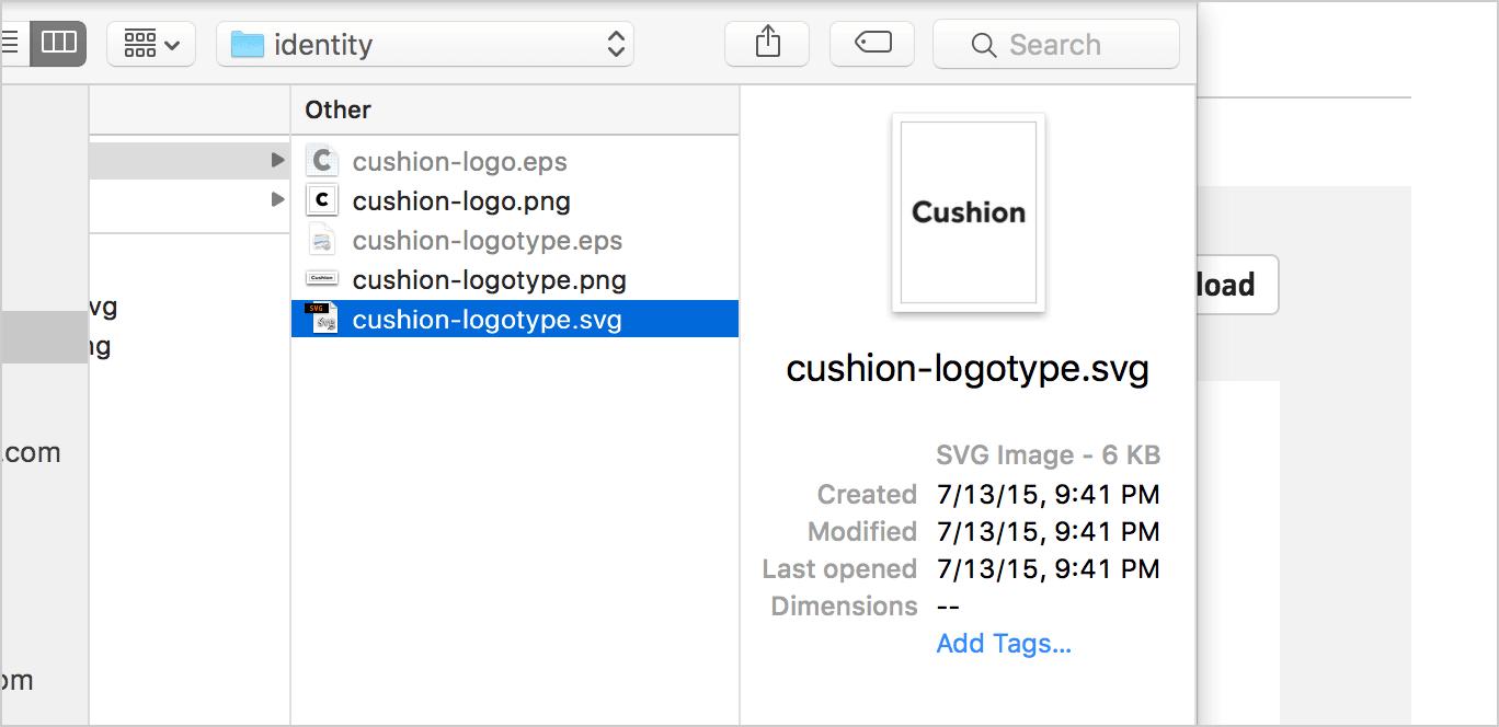 invoice logos cushion
