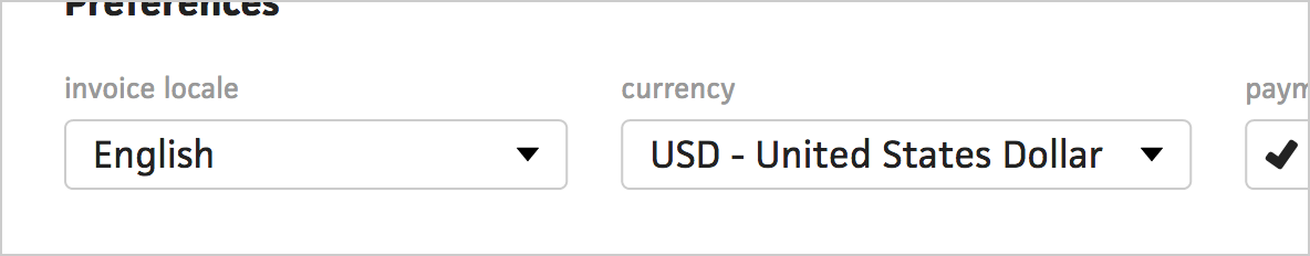 client currency