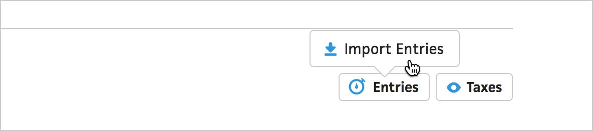 import entries button