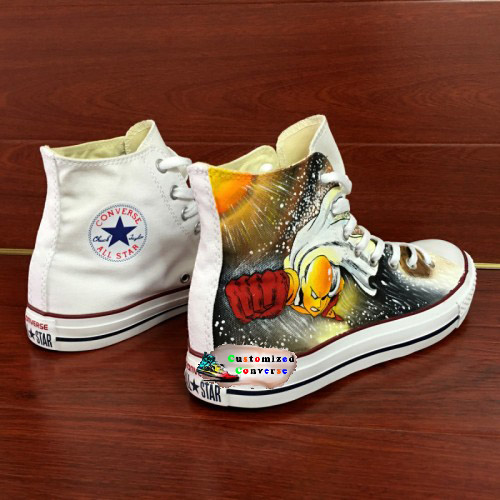 One Punch Man Shoes - - converse shoes - custom converse - customized converse