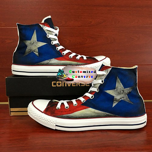 Puerto Rico Flag Shoes - converse shoes - custom converse - customized converse