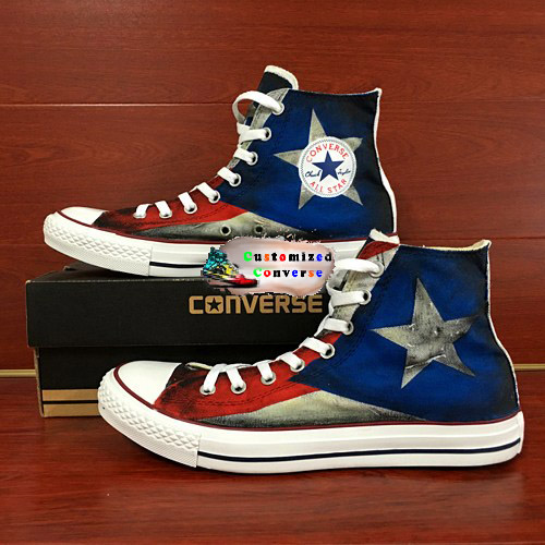 Puerto Rico Flag Shoes - converse shoes - custom converse - customized converse