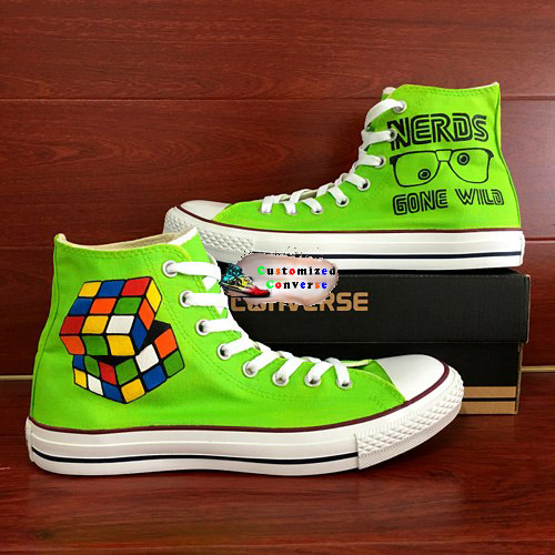 Nerd Shoes - converse shoes - custom converse - customized converse