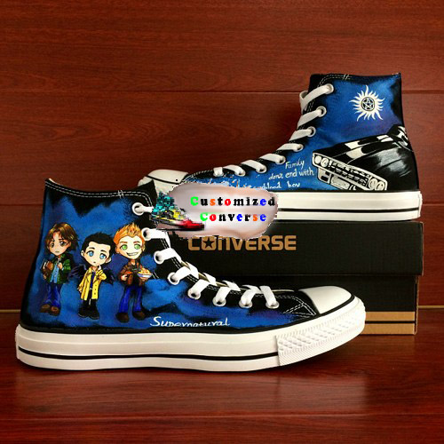 Supernaturel Shoes - converse shoes - custom converse - customized converse