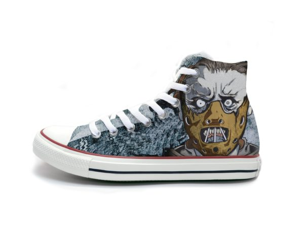 Hannibal Lecter Shoes - converse shoes - custom converse - customized converse