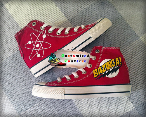 Big Bang Theory Shoes - converse shoes - custom converse - customized converse